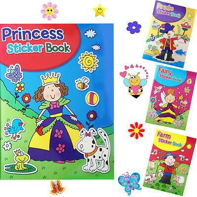 Children's Colouring Book Learn Kid's Stickers A4 Size Art Craft 36 Sheet Books