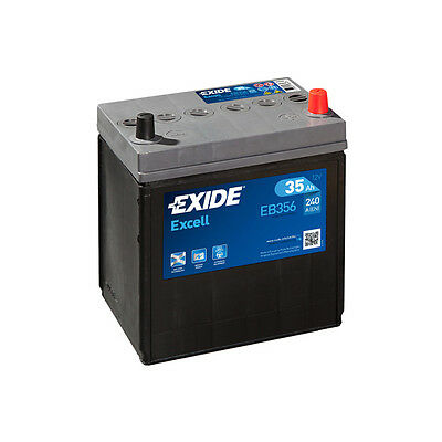 1x Exide Excell 35Ah 240CCA 12v Type 054 Car Battery 3 Year Warranty - EB356