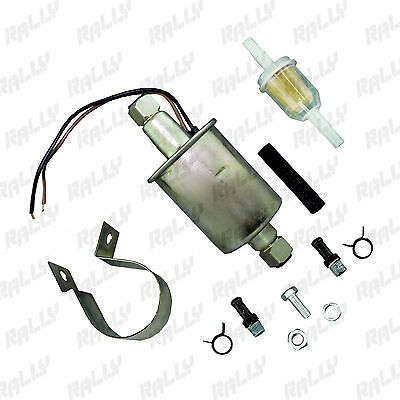 112 New E8012S Universal Electric Fuel Pump Low Pressure With Installation Kit