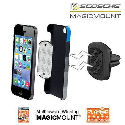 Magic Mount Magnetic Universal Car Air Vent Mount Holder Stand For Mobile Phones