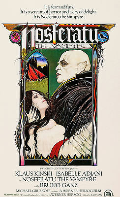 """NOSFERATU "".. Klaus Kinski   Classic Horror  Movie Poster A1A2A3A4Sizes"