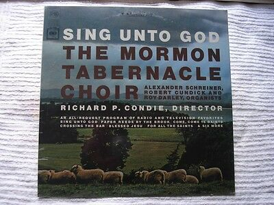 THE MORMON TABERNACLE CHOIR Sing Unto God LP Columbia MS 6908 Stereo ~SEALED~