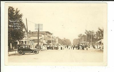 RARE IND RPPC Booster Day Bristol Indiana Real Photo Postcard