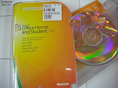 Microsoft MS Office 2007 Home and Student for 3 PCs Full English Ver. Retail BOX
