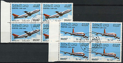 Laos 1986 SG#906-7 Aircrafts Cto Used Blocks Set #A18794A