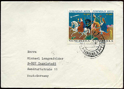 Venezuela 1975 Cover To Germany #C18522