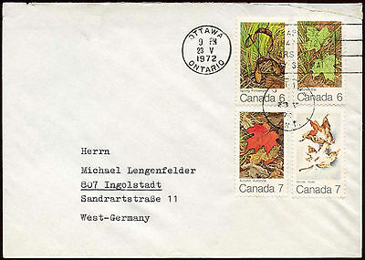 Canada 1972 Cover To Germany #C18525