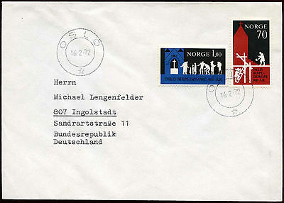 Norway 1972 Cover To Germany #C18573
