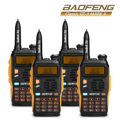 4* Baofeng GT-3 MKII Dual-Band V/UHF Two-way Radio Handheld Walkie Talkie >GT1