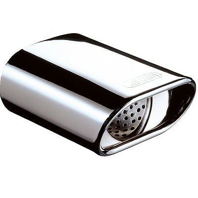 E-TECH M TYPE OVAL STAINLESS STEEL EXHAUST TIP /TRIM - Fit 50-65mm OD