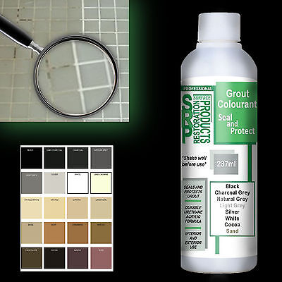 Grout Colourant PSRP Renew & Restore Grout Various Colours 237ml (or 5ml Sample)