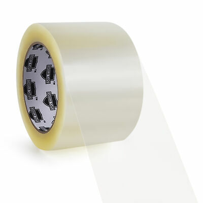 "Carton Sealing Clear Packing Tape 3"" x 110 Yards Choose Your Rolls & Mil"