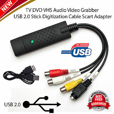Uk Usb 2.0 Vhs Tape To Pc Dvd Converter Video & Audio Capture Card/adapter