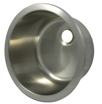 "Opella 13"" x 13"" Round Bar Sink Brushed Stainless Steel"