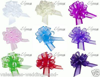 Pull Bows 50mm Organza Wedding Pew Bouquet Car Ribbon Gift Craft Floristry