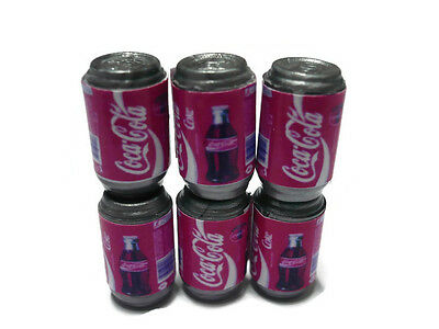 6 Coca Cola Coke Soda Cans Packs Dollhouse Miniature Beverage Drink Soft
