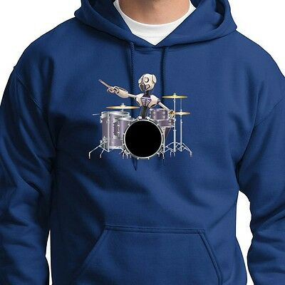 ROBOT DRUMMER Drum Set Sci Fi T-shirt Band Rock Music Hoodie Sweatshirt