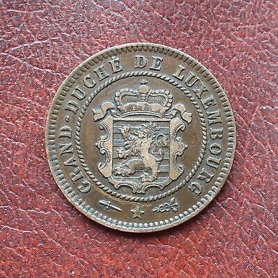 Luxembourg 1854 bronze 5 centimes