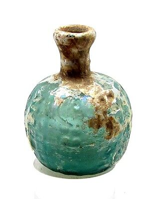 A ROMAN GLASS PERFUME FLASK  museum quality