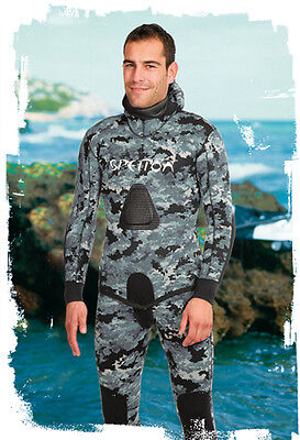 Spetton Black Digital Camo 3mm Spearfishing Wetsuit -2 piece long john & jacket