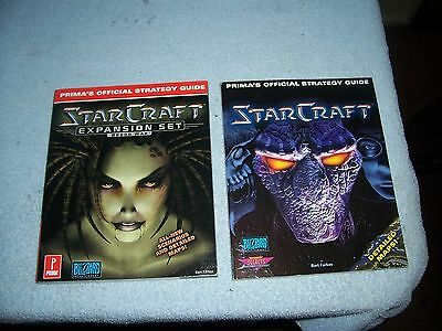 Lot of 2 - Starcraft : Prima's Official Strategy Guide Farkas, + Broods War