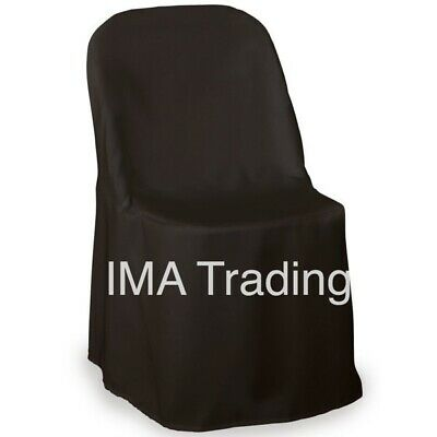 Black Polyester Folding Chair Covers Available In Black Brand New Uk Seller