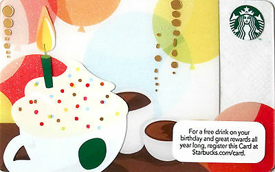 STARBUCKS Limited Edition Birthday cake Gift Card 2014 New No Value BILINGUAL*