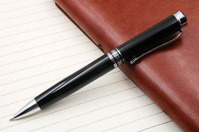 Jinhao Writing office black ballpoint pen with silver circle