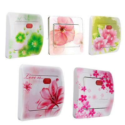 Fleur Stickers Autocollant Interrupteur Switch Prise Murale Decoration 90*90mm