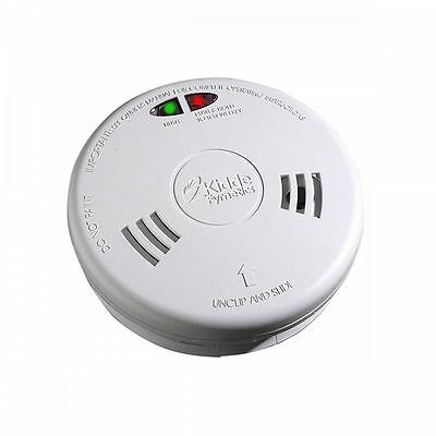 Kidde Slick 2Sfw Optical Smoke Alarm Detector 230V Hard Wired Battery Back Up
