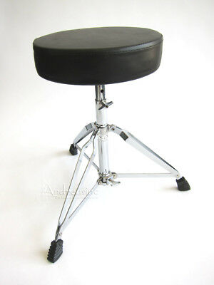 NEW HEAVY DUTY DELUXE DRUM THRONE DOUBLE BRACED SEAT STOOL for DRUMMER
