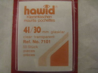 Hawid 41/30Mm Stamp Mounts 50 Pieces Clear - Paintings - Supplies