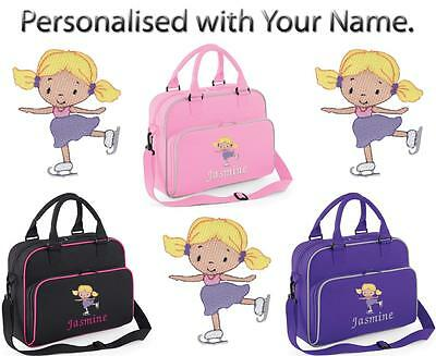 PERSONALISED EMBROIDERED JUNIOR DANCE BAG WITH ICE SKATING DESIGN - outfit