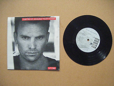 """STING - FORTRESS AROUND YOUR HEART P/S 7"""" SINGLE THE POLICE"""