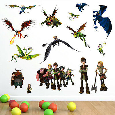 How to Train Your Dragon Wall Stickers Decals Removable Kids Baby Mural Decor