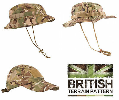 US & British Army Military Jungle Boonie Sun Bush Hat Cap Surplus Combat Camo
