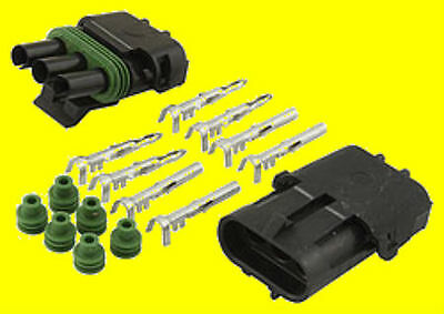 AllStar Weather Pack Connector Kit 3 Wire With Female And Male End