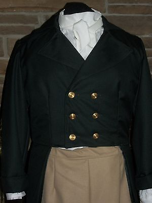 Custom Made 5 piece Regency Mr. Darcy tail coat waistcoat shirt breeches costume