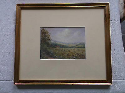 FRAMED WATERCOLOUR PAINTING by JUNE PITFIELD A BEAUTIFUL DORSET FARMHOUSE