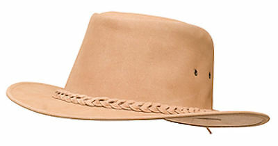 Mountain ManGear Western Style Hat X Large Tan, MADE FROM PREMIUM LEATHER!