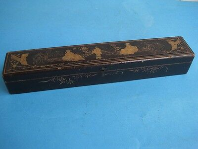 Antique CHINA CHINESE Laquered Box for fans empty