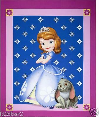 SOFIA FABRIC DISNEY SOFIA THE 1ST PRINCESS QUILT TOP CP52382 FREE SHIPPING NEW