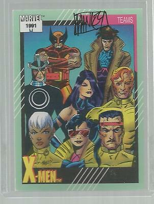 MARVEL UNIVERSE SERIES II 2 CARD SIGNED MIKE MANLEY X-MEN WOLVERINE GAMBIT HAVOK