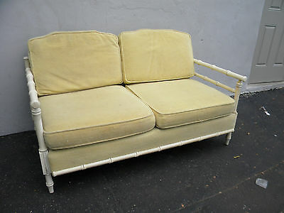 HOLLYWOOD REGENCY MID-CENTURY PAINTED LOVE SEAT / SETTEE #3156