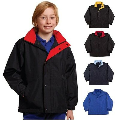 New Kids Boys Girls Jacket Water Proof Repellent Polar Fleece Parker Poncho Camp
