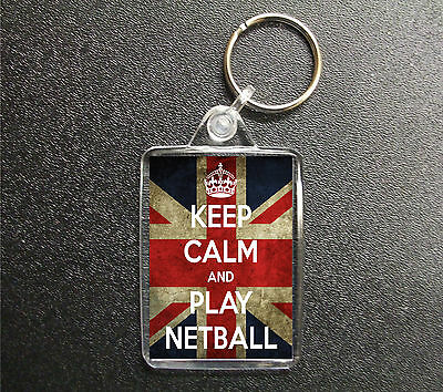 KCV28 Framed Vintage Style Union Jack Keep Calm Play Netball Funny Poster A3//A4