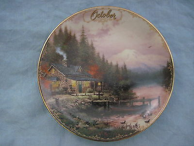 Thomas Kinkade Simpler Times OCTOBER - END OF A PERFECT DAY Calendar Plate