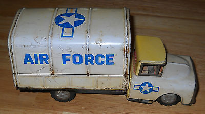VINTAGE YONE JAPAN TIN LITHO FRICTION US AIR FORCE TRUCK