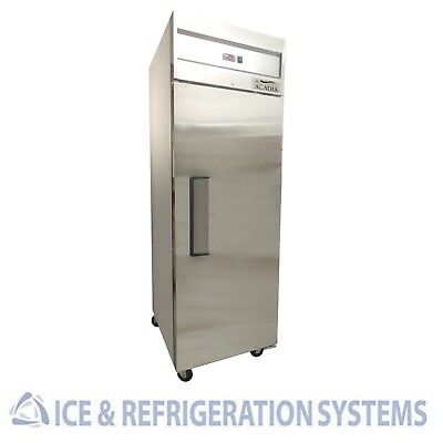 Stainless Steel   Commercial Single Door Reach In Upright Freezer