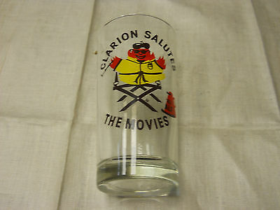 Clarion Salutes The Movies 1983 ALF Collectors glass Clarion Pennsylvania 5 In.